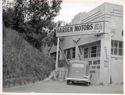 Garden Motors and small amount of level land of Devivch Building.