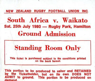 Springbok tour ticket