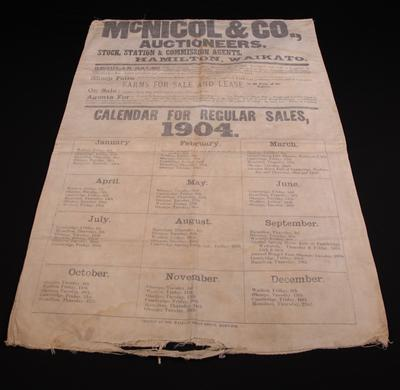 Bag  'McNicol & Co. Auctioneers'
