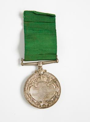 Medal – Long Service Colonial Auxiliary Forces, Captain J. C. Holland