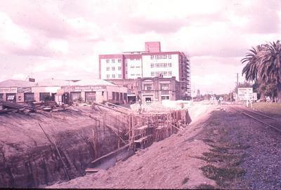 Slide - Tunnel from Victoria Street to new underground railway station; Tom Bryce; Allen Bryce; Dec 1962; 2003/16/40