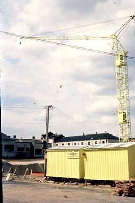 Slide - Construction of State Advances Corporation Building, Hamilton; Tom Bryce; Allen Bryce; Feb 1961; 2003/16/44