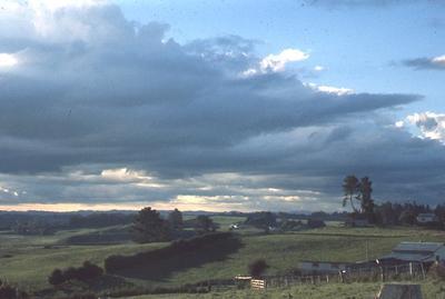 Slide - stormy sky, Ruakura