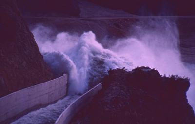 Slide - Spillway discharge, flood, Ohakuri