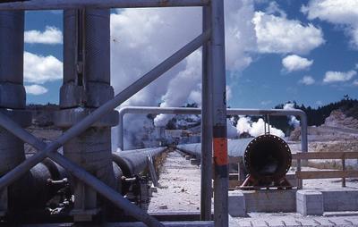 Slide - Wairakei steam pipes