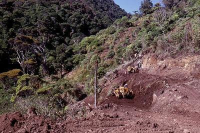 Slide - Road at Te Toto Gorge, Raglan