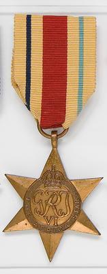 Medal – The Africa star, R.J  Devonshire