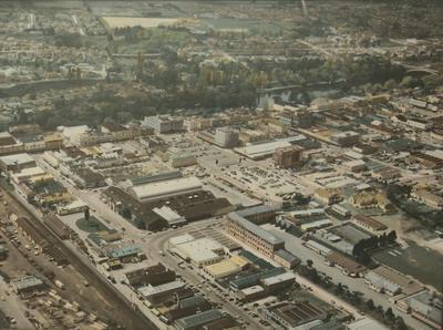 Photograph – Aerial view of Hamilton