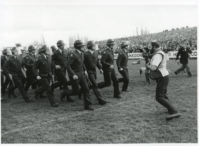 """""""Riot Squad on rugby field"""" - 1981 Springbok Tour"""