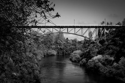 Victoria Bridge Framing Waikato River