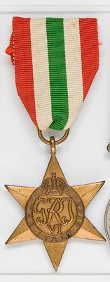 Medal – The Italy Star, R.J  Devonshire