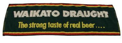 Bar towel – 'Waikato Draught, the strong taste of real beer...'