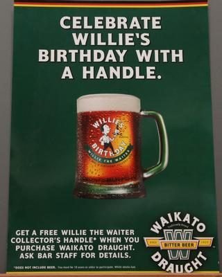 Poster – 'Celebrate Willie's Birthday With A Handle'