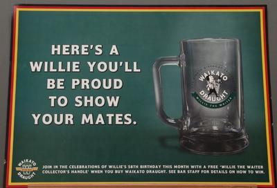 Poster – 'Here's a Willie You'll Be Proud to Show Your Mates'; Lion Breweries Ltd.; 2003; 2020/33/4