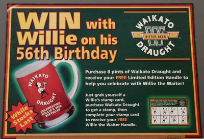 Poster – 'Win with Willie on his 56th Birthday'