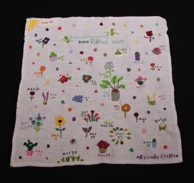 Embroidery – Keep on Growing! Noho Rāhui 2020