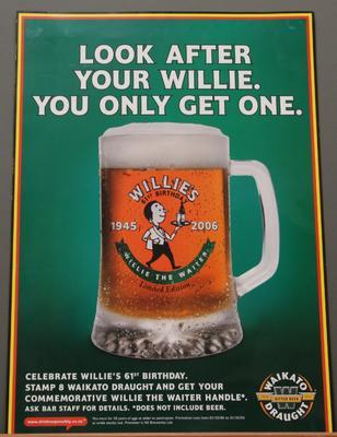 Poster – 'Look After Your Willie. You Only Get One'