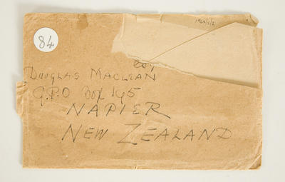Envelope: with Koru designed motif by Horatio Robley