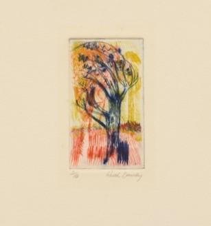Untitled [blue tree]