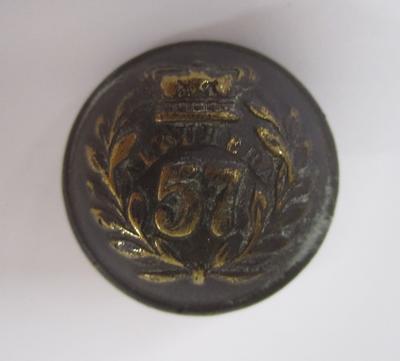 Tunic button: 57th Regiment