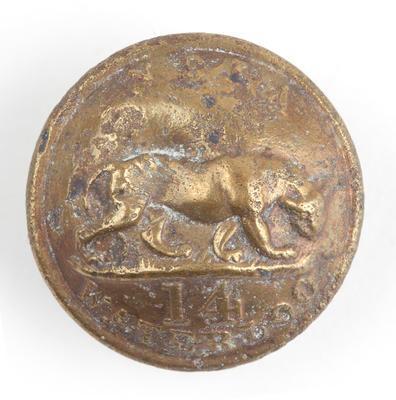 Tunic button: 14th Regiment