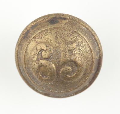 Tunic button: 65th Regiment