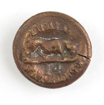 Tunic button:14th Regiment