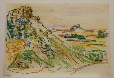 Untitled [pastel landscape]