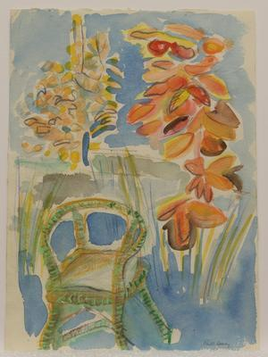 Untitled [chair and flowers]