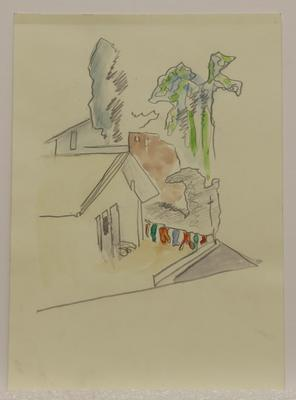 Untitled [watercolour house]