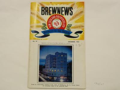 Booklet - Brewnews By NZ Breweries Ltd  No 37; NZ Breweries; Dec 1965; 1964/43/1