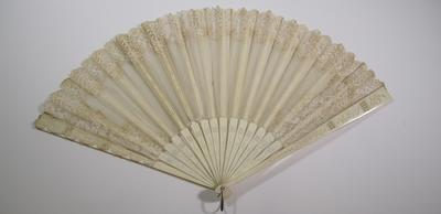 Ivory and lace fan
