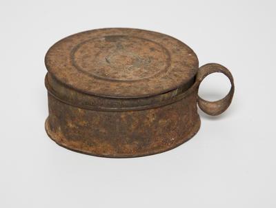 Tinder box (circular tin)