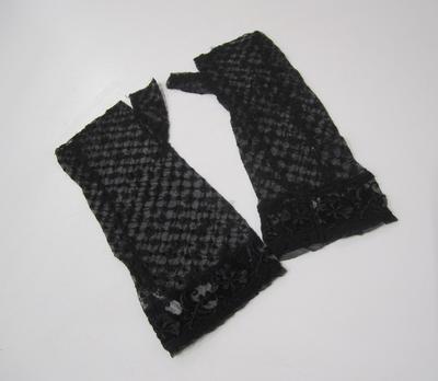 Black lace wristlets