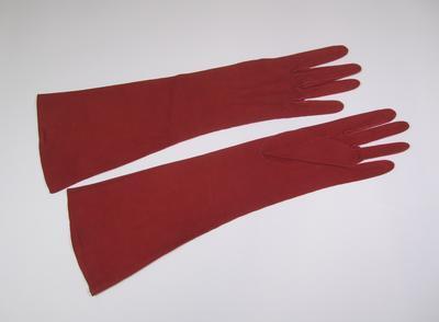 Women's red kid gloves