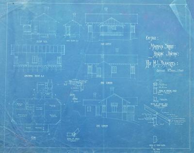 Architectural plans – Rev. H. L. Blamires' residence, Frankton