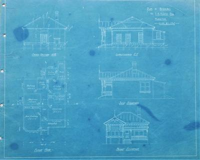 Architectural plan – T.B. Booth's residence