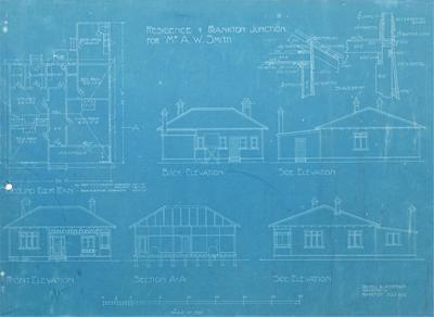 Architectural plan – A.W. Smith's residence, Frankton Junction