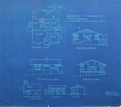 Architectural plans – Mr Darrock's residence, Penrose Junction