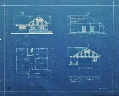 Architectural plan – E. George's residence, Huntly