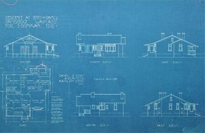 Architectural plan – E. Donovan's residence, Cambridge