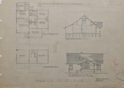 Architectural plans – Choquell's Residence, Hamilton