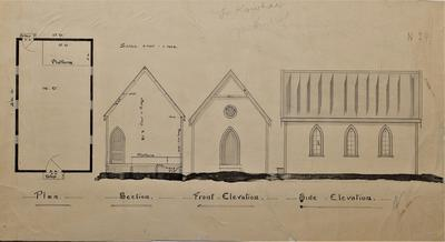 Architectural plans – Methodist Church, Te Kowhai