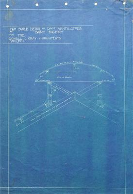 Architectural plans - Roof Ventilators at Dairy Factory