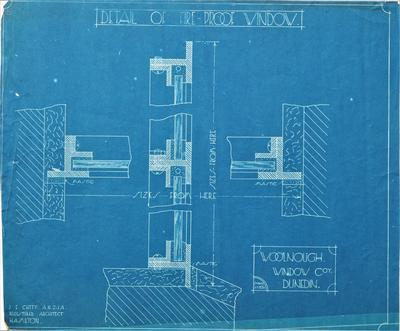 Architectural plan – Details of Fire Proof Window