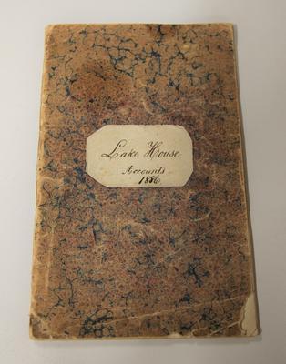 Account book – Lake House Accounts 1886