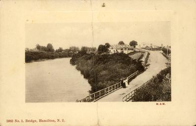 Postcard – No.1 Bridge, Hamilton, N.Z.