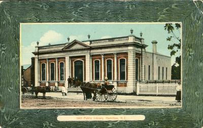 Postcard – Public Library, Hamilton