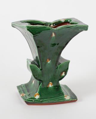Green winged vase