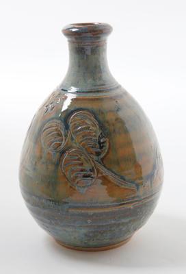 Stoneware bottle vase